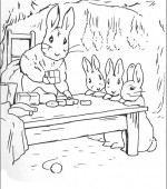 coloriage peter lapin 014