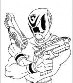 coloriage power ranger 003