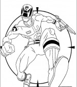 coloriage power ranger 006