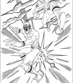 coloriage power ranger 008