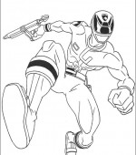 coloriage power ranger 049