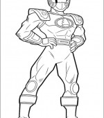 coloriage power ranger 056