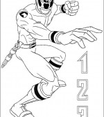 coloriage power ranger 060
