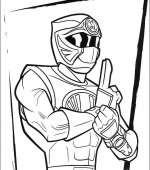 coloriage power ranger 087