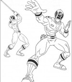 coloriage power ranger 088