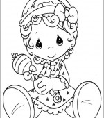 coloriage precious moments 006