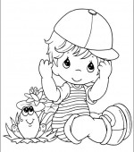 coloriage precious moments 012