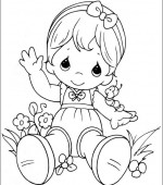 coloriage precious moments 018