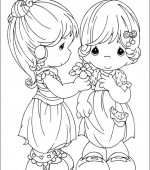 coloriage precious moments 020