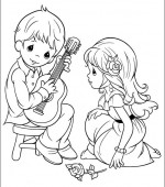 coloriage precious moments 022