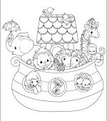 coloriage precious moments 025