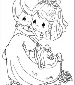 coloriage precious moments 026