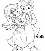 coloriage precious moments 028