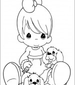 coloriage precious moments 035