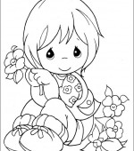 coloriage precious moments 036