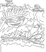 coloriage rocket power 015
