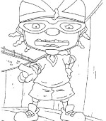 coloriage rocket power 019