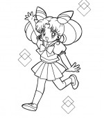 coloriage sailor moon 003