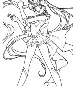 coloriage sailor moon 007