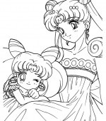 coloriage sailor moon 014