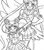 coloriage sailor moon 033