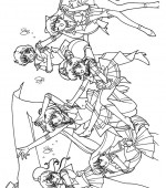 coloriage sailor moon 035