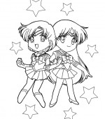 coloriage sailor moon 036