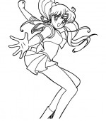 coloriage sailor moon 043