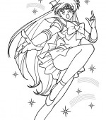 coloriage sailor moon 046
