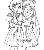 coloriage sailor moon 123