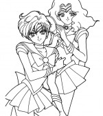 coloriage sailor moon 124