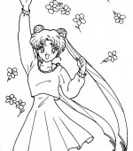 coloriage sailor moon 127