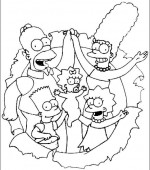 coloriage simpsons 006