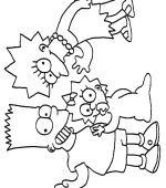 coloriage simpsons 033