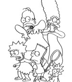 coloriage simpsons 034