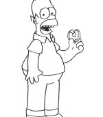 coloriage simpsons 045