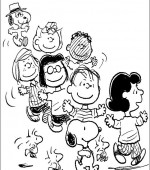 coloriage snoopy et charlie brown 001