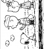 coloriage snoopy et charlie brown 009
