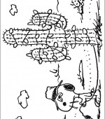 coloriage snoopy et charlie brown 010