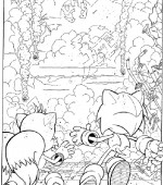 coloriage sonic 004