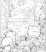 coloriage sonic 007