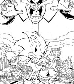 coloriage sonic 009
