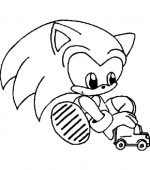 coloriage sonic 010