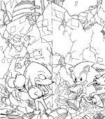 coloriage sonic 011