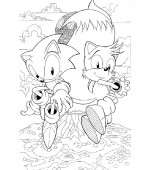 coloriage sonic 013