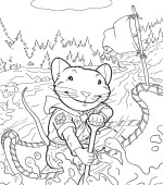 coloriage stuart little 001