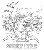 coloriage stuart little 005