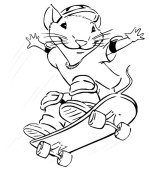 coloriage stuart little 008