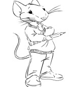 coloriage stuart little 012