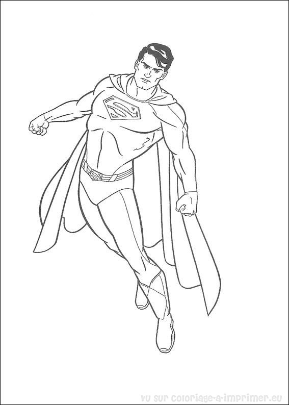 Coloriage Facile Superman.Coloriage A Imprimer Coloriage Superman 040
